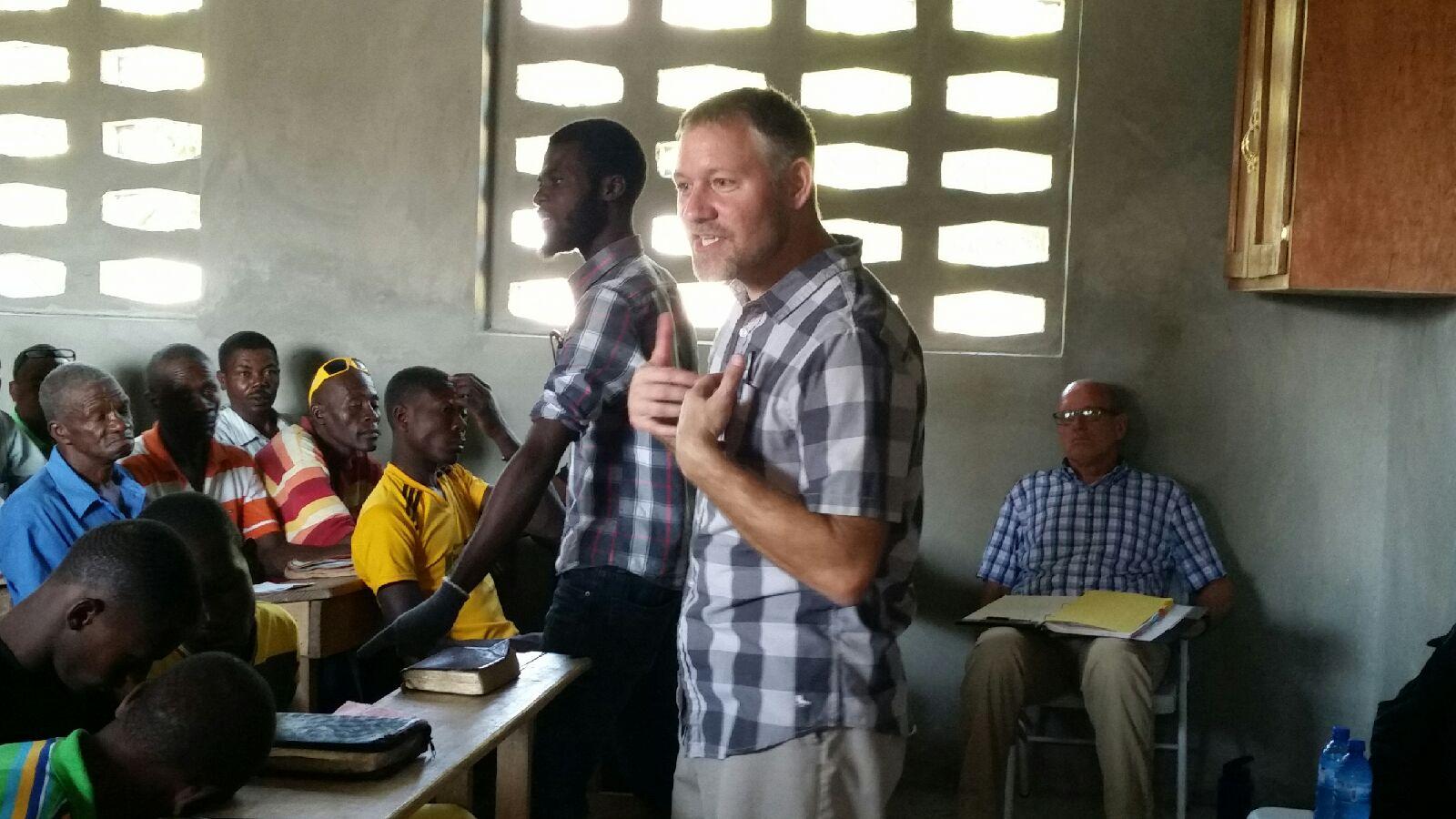 Jim teaching men