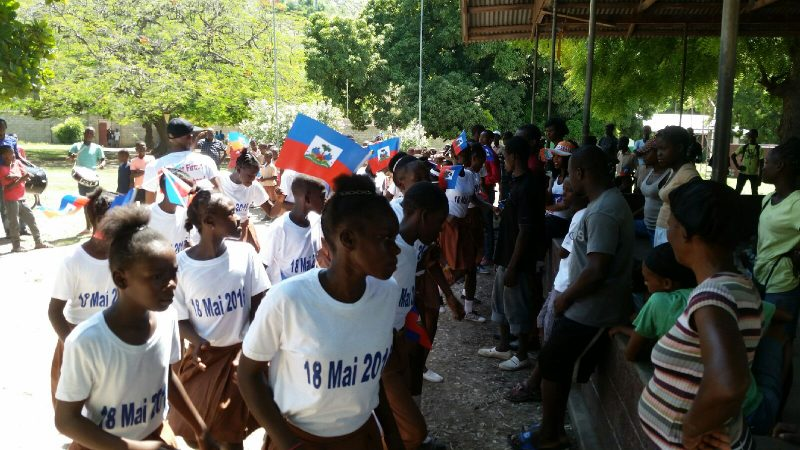 Drill team performance at orphanage