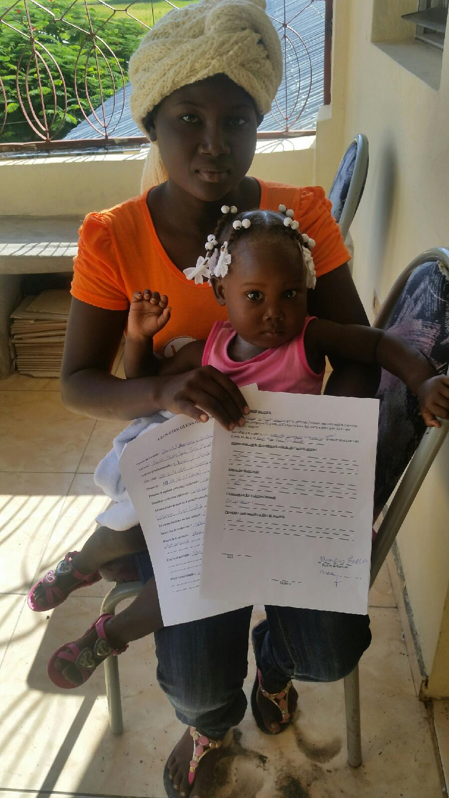 Lithamene and her daughter Fedline