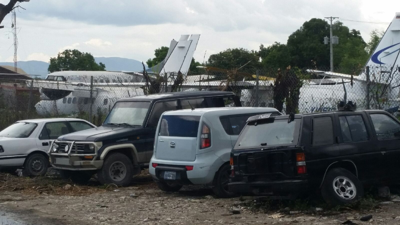 Picture of Haitian Airport just outside of Haitian Taxi station