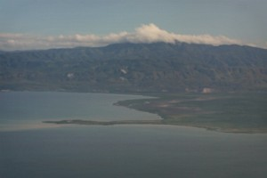 clouds building over Haiti