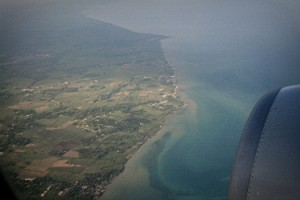 An ariel view of Haiti